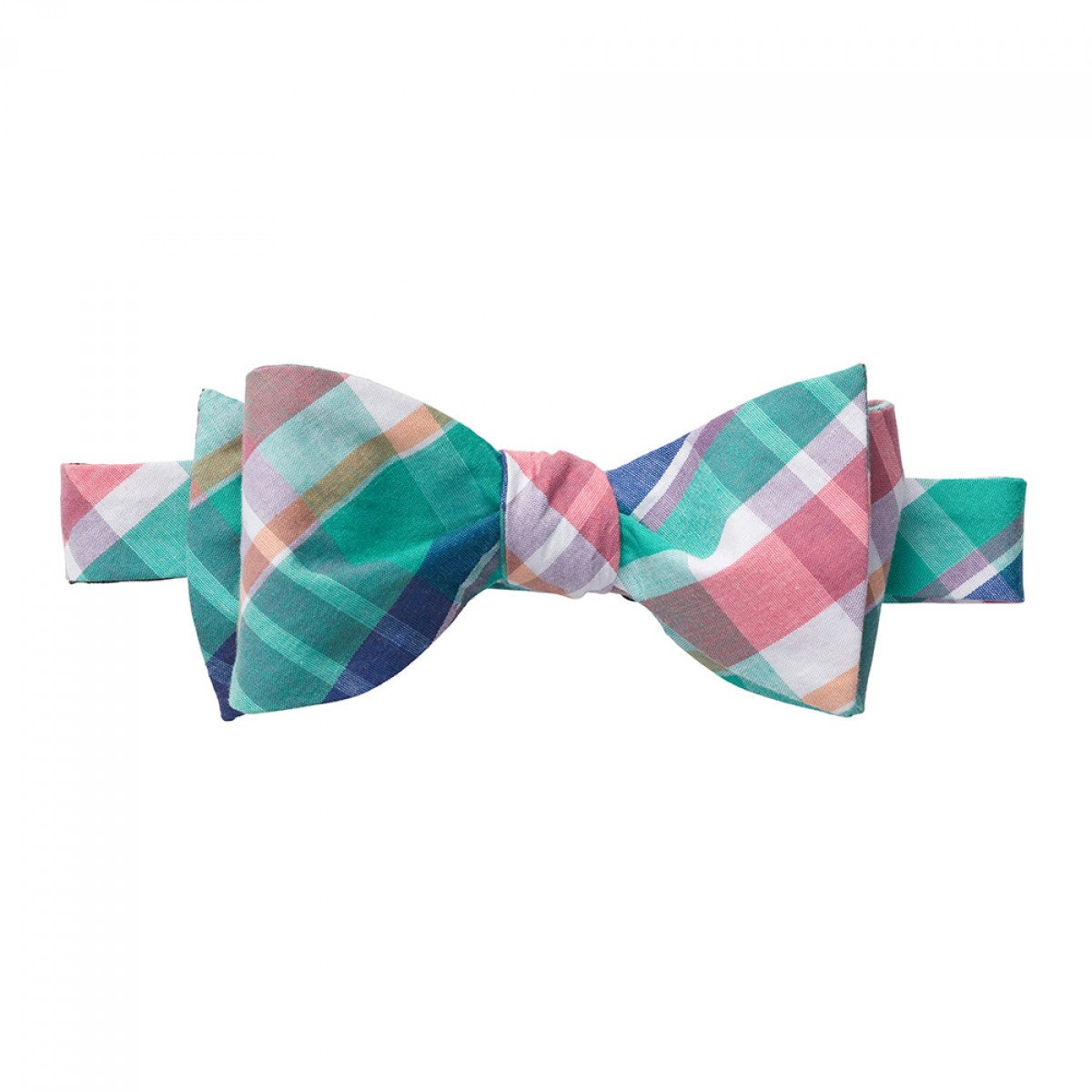Madras Plaid Bow - Teal